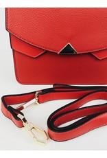 Double Compartment Crossbody Satchel Bag