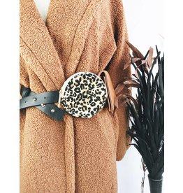 Faux Leather Belt Bag - Leopard