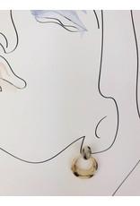 Tortoise Shell Drop Earrings - Beige