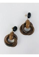 Boucles d'oreilles en bois - Marron