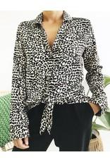 Chemise à imprimé léopard