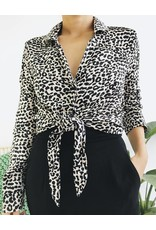 Leopard Printed Shirt with Front tie