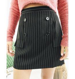 High Waisted Striped Mini Skirt
