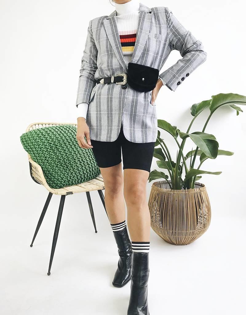 Classic Straight Plaid Blazer