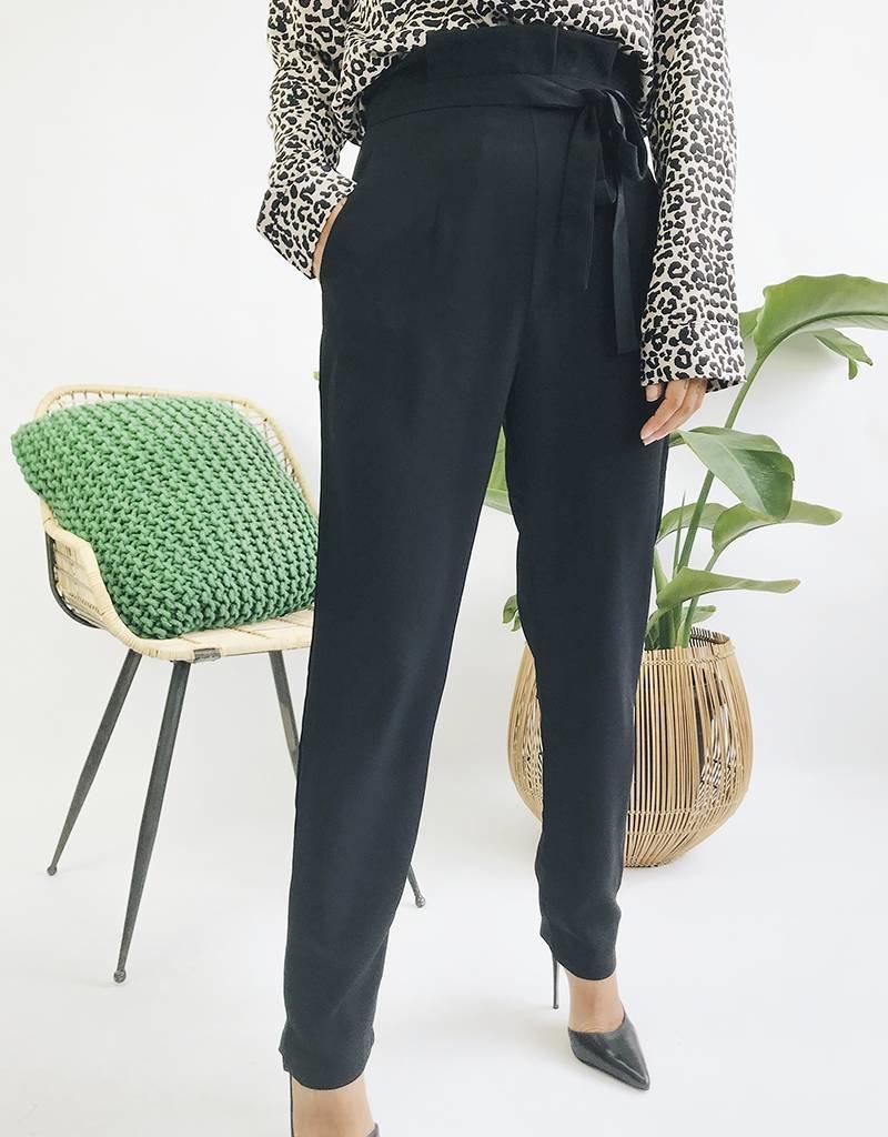 Pantalon fluide taille haute