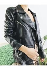 Faux Leather Boyfriend Biker Jacket