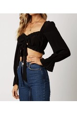 Crop Top with Balloon Sleeves