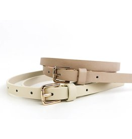 Slim Belt with Square Buckle