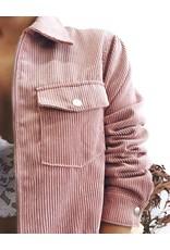 Pink Corduroy Cropped Jacket