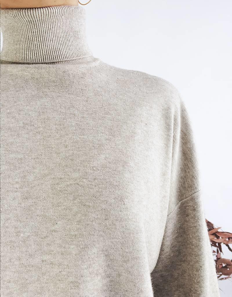 Turtleneck Sweater With Long Kimono Sleeves