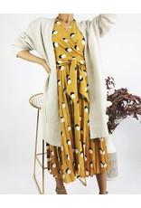 Pleated Short Sleeves Midi Dress
