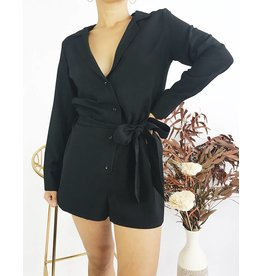 Long Sleeve Romper with Belt
