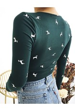 Long Sleeves Cropped Top With Front Twist