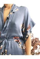 Flower Printed Kimono Dress