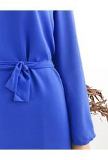 Robe à manches cloche bleu électrique
