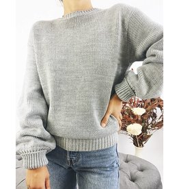 Knit Sweater with Open Back