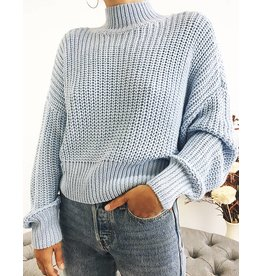 Knit Turtleneck with Balloon Sleeves