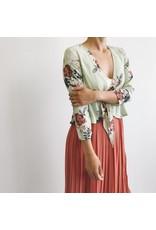 Floral Print Front Tie Top
