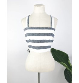 Striped Bandeau Top