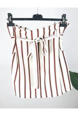 High Waisted Stripe Skirt