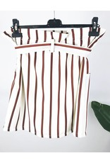 High Waisted Stripe Skirt