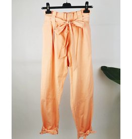 Waist-Tie and Hem Knotted Pants
