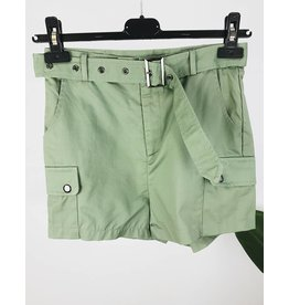 High Waisted Cargo Shorts