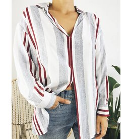 Oversized Shirt with Front Tie Detail