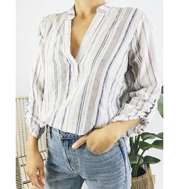 Chemises à rayures multicolores