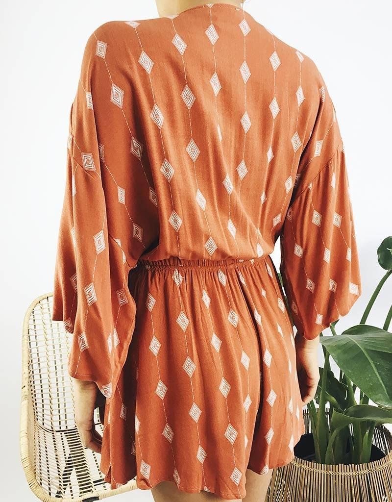 Combishort à manches kimono