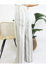 Pantalon rayé à taille haute avec détails lacés