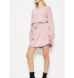 Ultra-soft Chenille Dress - Pink