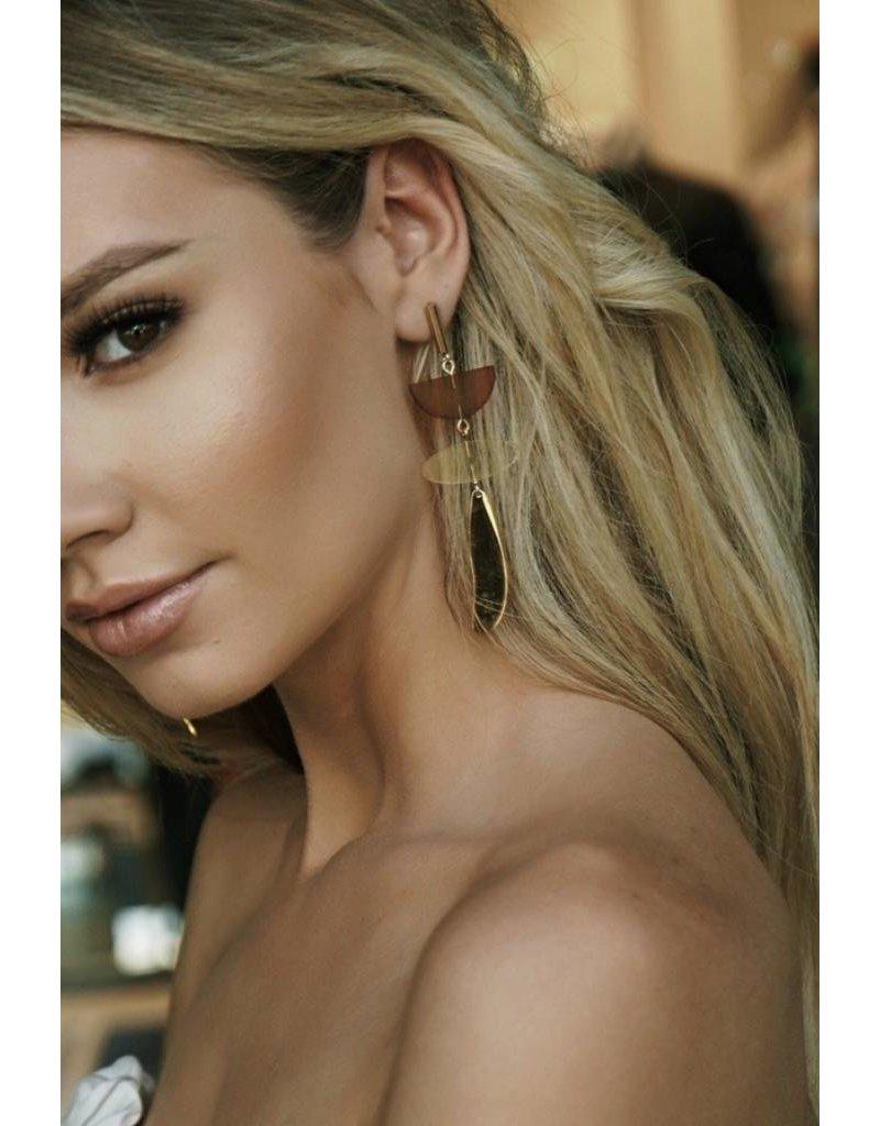 City Girl - Boucles d'oreilles pendantes plaquées or