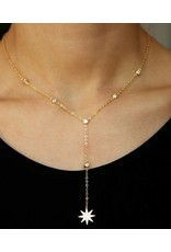 Estrella - Gold Plated Lariat Necklace with Star Pendant