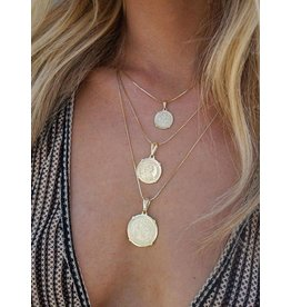 Emperor Small - Gold Plated Necklace with Coin Pendant