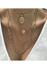 Emperor petit - Collier plaqué or avec pendentif pièce