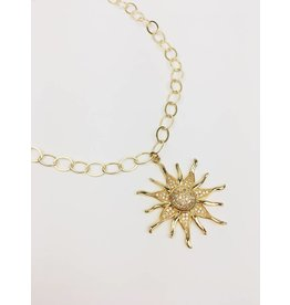 Sun Burst - Gold Plated Necklace with Sun Pendant