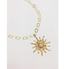 Sun Burst - Gold Plated Necklace with Sun Pendant