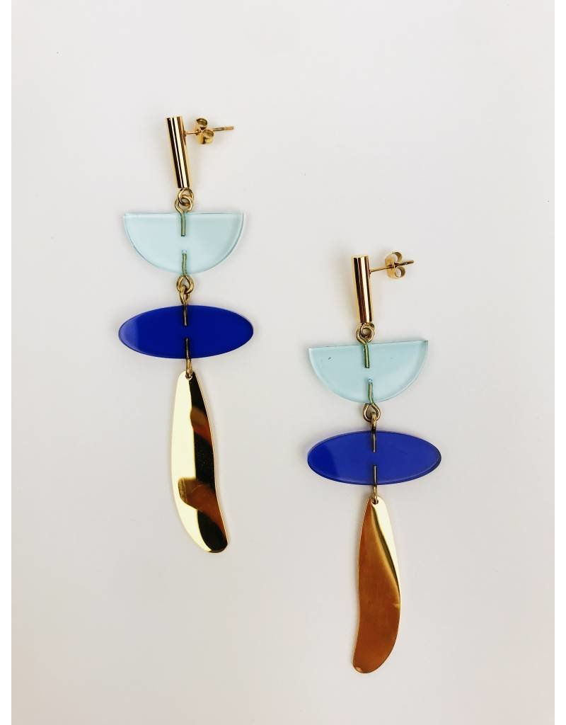City Girl - Gold Plated Drop Earrings
