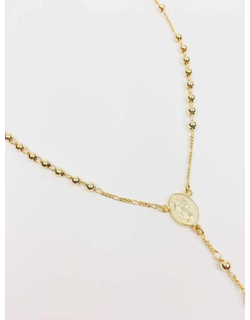 Rosary - Gold Plated Rosary Necklace