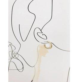 Jenifer - Boucles d'oreilles plaqué or