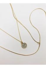 Collier multi-rangs avec pendentif cercle - Or