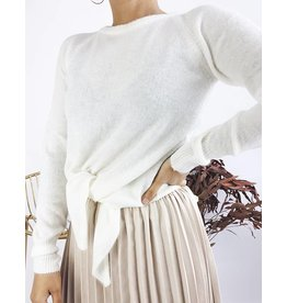 Soft Sweater with Knot Detail - Ivory