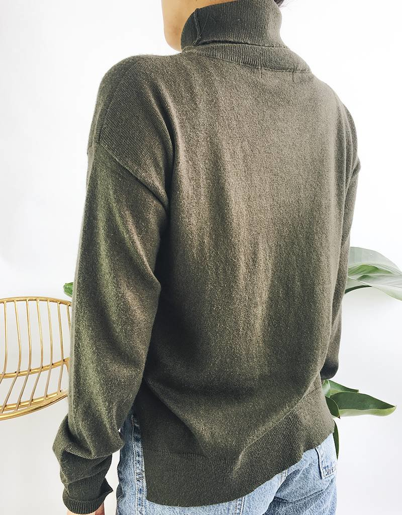 Classic Turtleneck Knit Sweater