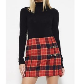 Thick Plaid Skirt