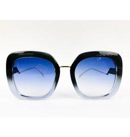 Chunky Square Two-tone Sunglasses - Blue