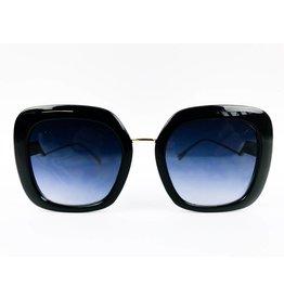 Chunky Square Two-tone Sunglasses - Black