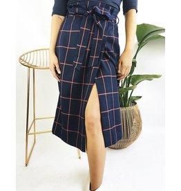 Mid-Length Printed Wrap Style Skirt