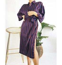 Robe chemise longue avec ceinture