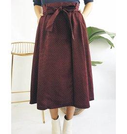 Wrap Style Polka Dot Skirt
